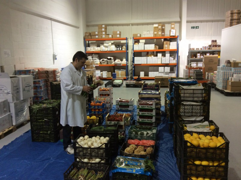 Inspecting Fruit and Veg delivery