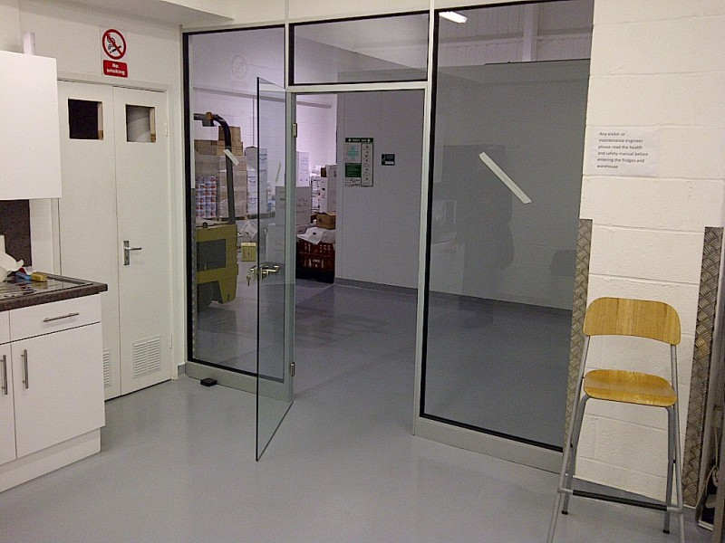 Entrance to warehouse