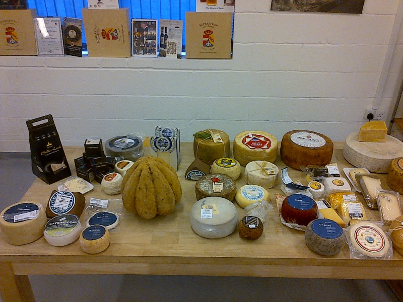 Cheese on display at SW19